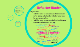 Behavior Binder How to