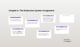 Chapter 8: The Endocrine System Assignment