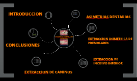 EXTRACCIONES ASIMETRICAS EN ORTODONCIA