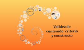 Copy of Validez de contenido, criterio y constructo