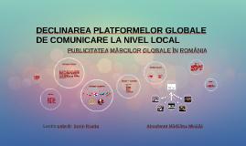 DECLINAREA PLATFORMELOR GLOBALE DE COMUNICARE LA NIVEL LOCA