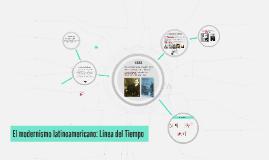 El modernismo latinoamericano: Línea del Tiempo