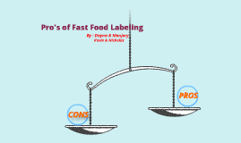 Pro's of Fast Food Labels