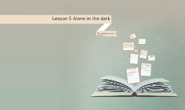 Lesson 5 Alone in the dark