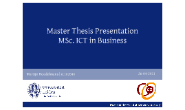 Masters thesis company