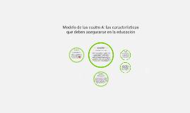 Copy of Modelo de las cuatro A: características de la educación cons