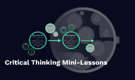 Critical Thinking Mini-Lessons