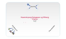 Kasalukuyang Kalagayan ng Wikang Filipino