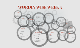WORDLY WISE WEEK 3