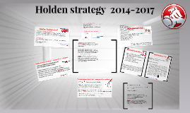 Holden strategy  2014-2017