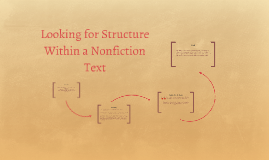 Looking for Structure Within a Nonfiction Text