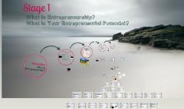 Stage 1 Entrepreneurship & Assessing You