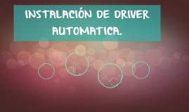 PASOS PARA LA INSTALACION DE DRIVER