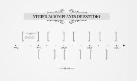 VERIFICACIÓN PLANES DE ESTUDIO