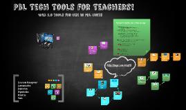 PBL Tech Tools for Teachers!