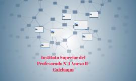 Instituto Superior del Profesorado N°4 Anexo II- Calchaquí