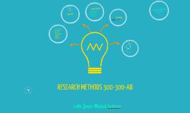 Research Methods: Hello!