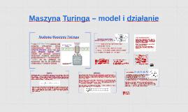 Maszyna Turinga –model i działanie