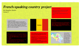 French-speaking country project