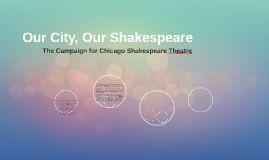Our City, Our Shakespeare