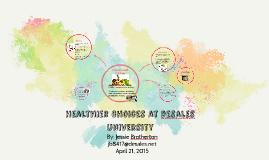 Copy of Healthier choices at desales university