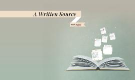 A Written Source