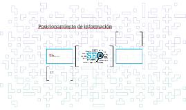 Posicionamiento de información