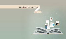 La classe 3/4 2014-2015