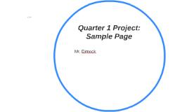 Quarter 1 Project: