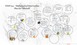 "EDSP 644 - Mathematical Intervention Plan for ""Mitchell"""