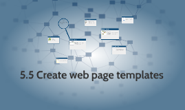 5.5 Create web page templates