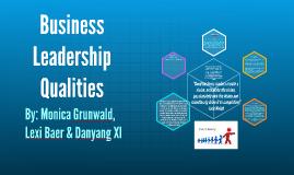 Business Leadership Qualities