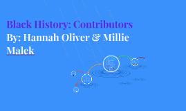 Black History: Contributors