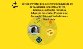 Cursos ofertados pela Secretaria de Educação em parceria com
