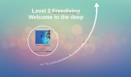 Level 2 Freediving