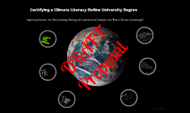 Climate Literacy Online University Degree Certification