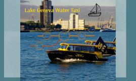 Lake Geneva Water Taxi
