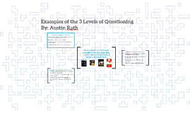 Examples of the 3 Levels of Questioning