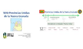 1810: Provincias unidas de la nueva granada