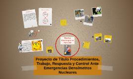 Proyecto de Titulo Procedimientos, de Trabajo, Respuesta y C