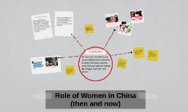 Copy of Role of Women in China (then and now)