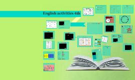English activities 4th