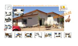Paso a paso de una obra de construcción con fardos de paja (Lampa-Chile)