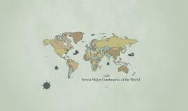 Seven Major Landmarks of the World
