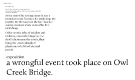 Critical essays on an occurrence at owl creek bridge