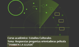 Curso académico: Estudios Culturales