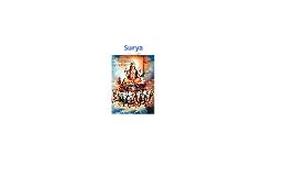 surya- Hindu sun god