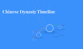 Chinese Dynasty Timeline