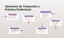 Seminario de Traducción y Práctica Profesional
