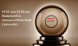 STAT 500 STAT500 Homework 6 Answers (Penn State University)